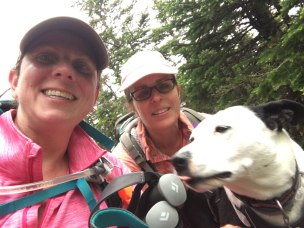 Me, Kim, and Miss Tory at the Mt. Willey summit.